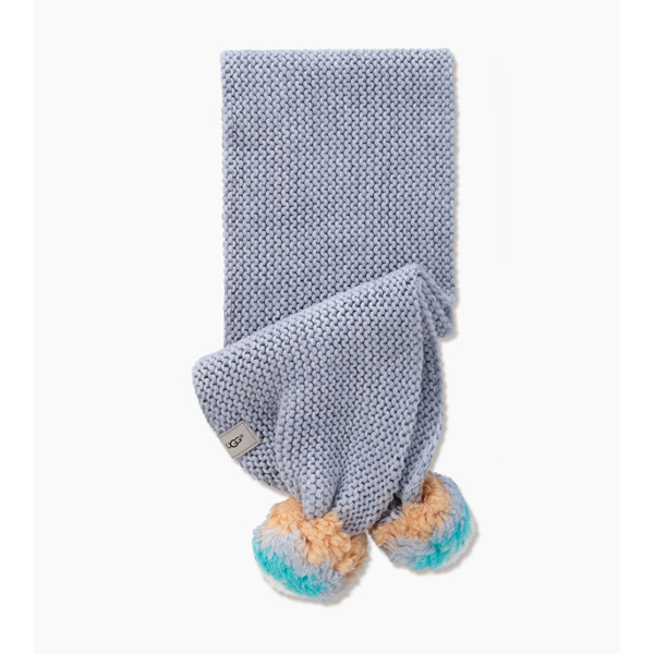 CHEAP UGG KIDS' MULTI COLOR POM SCARF GREY HEATHER ONLINE