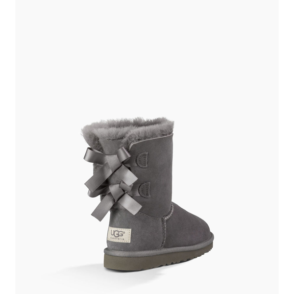 CHEAP UGG TODDLERS BAILEY BOW GREY ONLINE