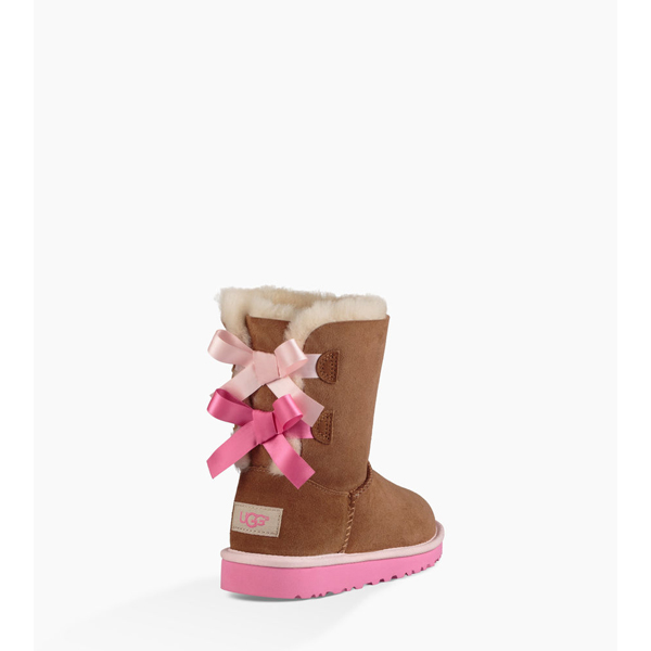 CHEAP UGG TODDLERS BAILEY BOW CHESTNUT/PINK AZALEA ONLINE