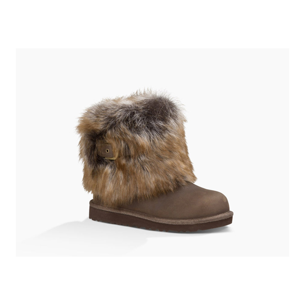 CHEAP UGG KIDS' ELLEE LEATHER CHOCOLATE ONLINE