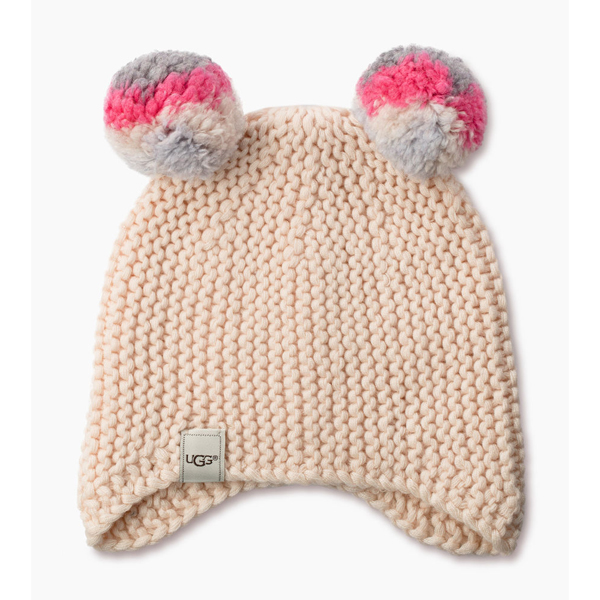 CHEAP UGG KIDS\' MULTI COLOR POM KNIT HAT  FRESHWATER PEARL M ONLINE