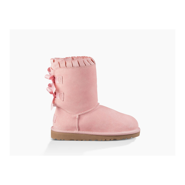 CHEAP UGG TODDLER'S BAILEY BOW RUFFLES BABY PINK ONLINE