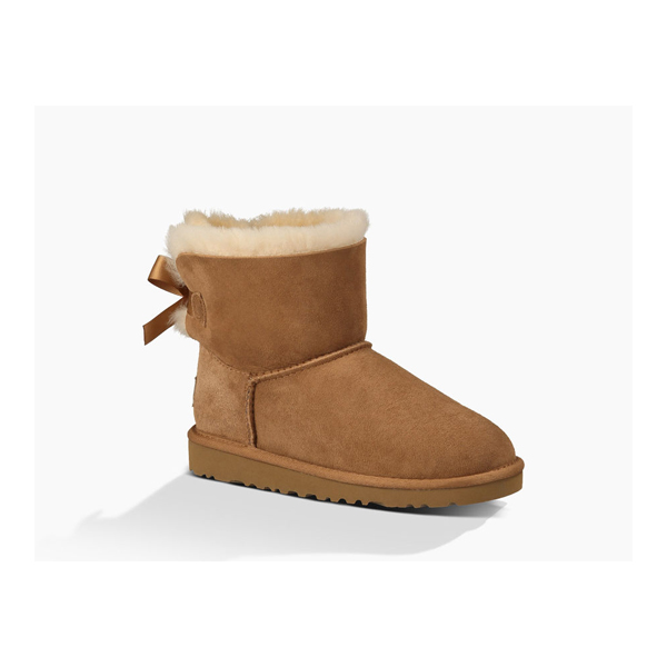 CHEAP UGG YOUTH MINI BAILEY BOW CHESTNUT ONLINE