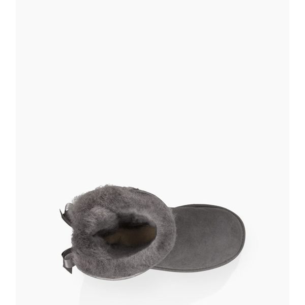 CHEAP UGG YOUTH BAILEY BOW GREY ONLINE