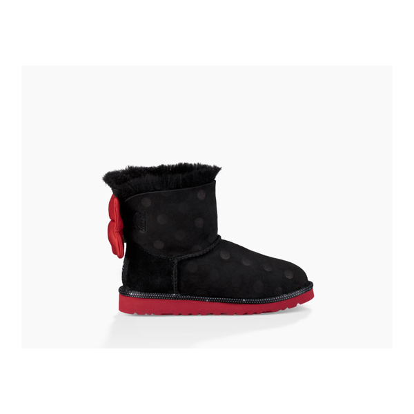 CHEAP UGG YOUTH SWEETIE BOW BLACK ONLINE