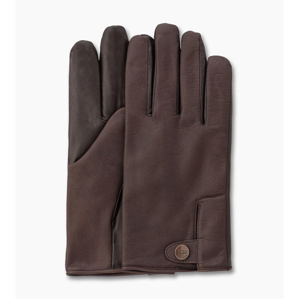 CHEAP UGG MEN\'S LEATHER SMART SNAP GLOVE BROWN ONLINE