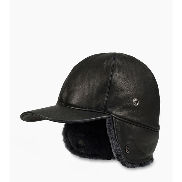 CHEAP UGG MEN'S LEATHER BASEBALL HAT BLACK M ONLINE