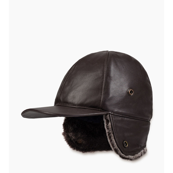 CHEAP UGG MEN'S LEATHER BASEBALL HAT BROWN M ONLINE