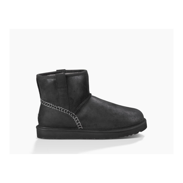 CHEAP UGG MEN'S CLASSIC MINI STITCH BLACK ONLINE