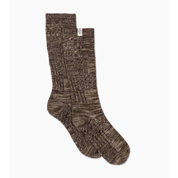 CHEAP UGG MEN'S PATCHWORK CREW SOCK STORMY GREY PATCHWORK ONLINE