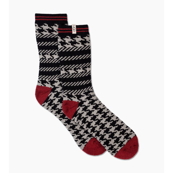 CHEAP UGG MEN'S MIXED HOUNDSTOOTH CREW SOCK SEAL HOUNDSTOOTH ONLINE