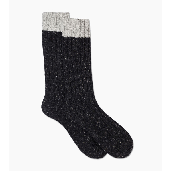CHEAP UGG MEN\'S CLASSIC COLOR BLOCKED CREW SOCK SEAL / BLACK ONLINE