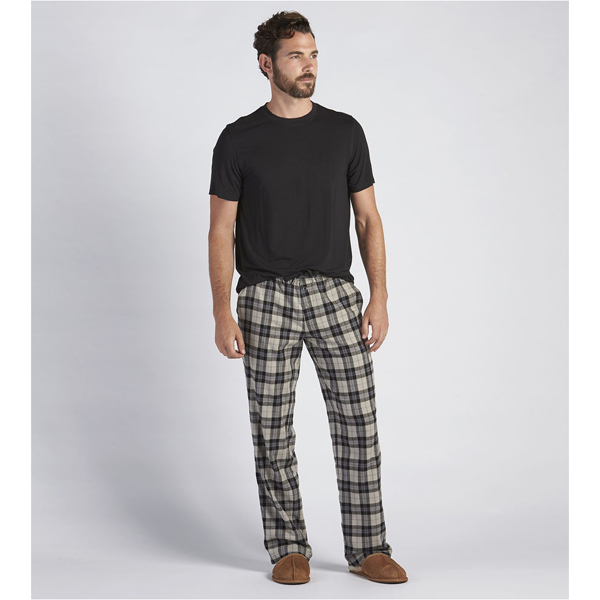 CHEAP UGG MEN\'S GRANT PAJAMA SET BLACK/PLAID BLACK ONLINE