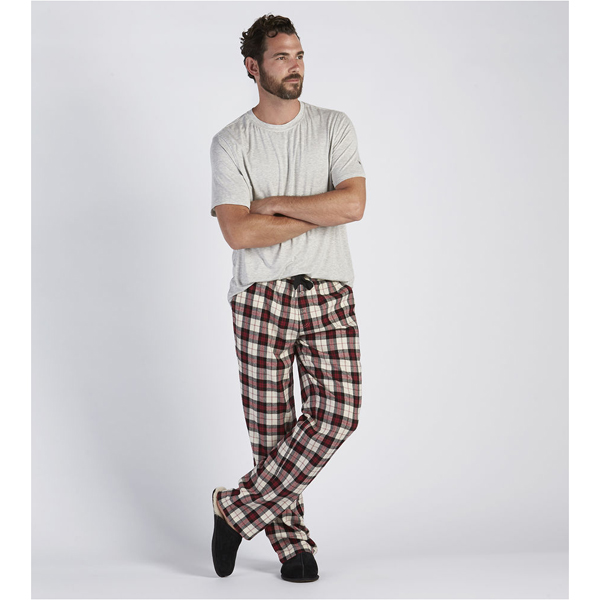 CHEAP UGG MEN'S GRANT PAJAMA SET SEAL HEATHER/PLAID TIMELE ONLINE