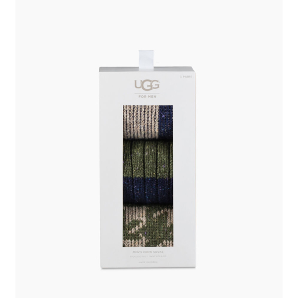 CHEAP UGG MEN'S MEN'S CREW SOCK GIFT SET NAVY MULTI ONLINE