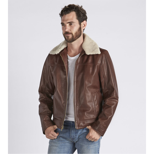 CHEAP UGG MEN'S AVIATOR LEATHER JACKET ESPRESSO ONLINE