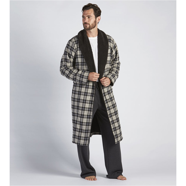 CHEAP UGG MEN\'S KALIB ROBE PLAID BLACK ONLINE