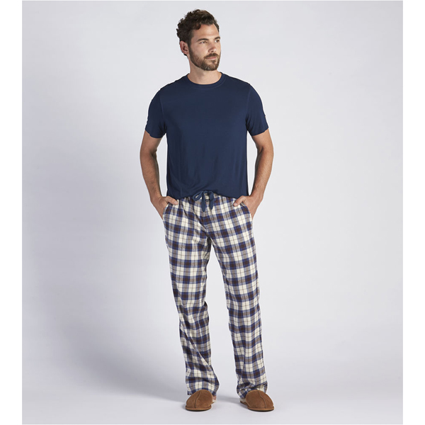 CHEAP UGG MEN'S GRANT PAJAMA SET NAVY PLAID/PAJAMA BLUE ONLINE