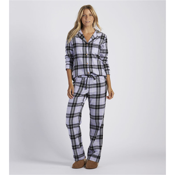 CHEAP UGG WOMEN'S RAVEN PLAID PAJAMA SET ELECTRIC PURPLE ONLINE