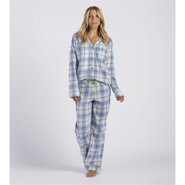 CHEAP UGG WOMEN'S RAVEN PLAID PAJAMA SET PAJAMA BLUE ONLINE