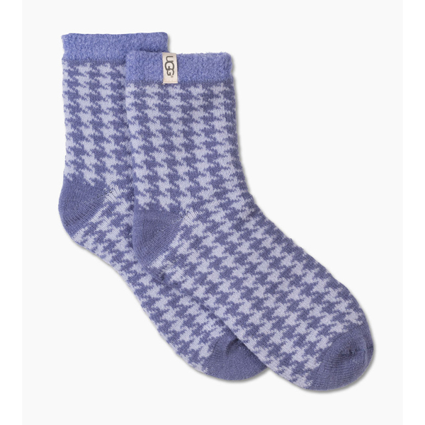 CHEAP UGG WOMEN\'S HOUNDSTOOTH FLEECE LINED SOCK PAJAMA BLUE ONLINE