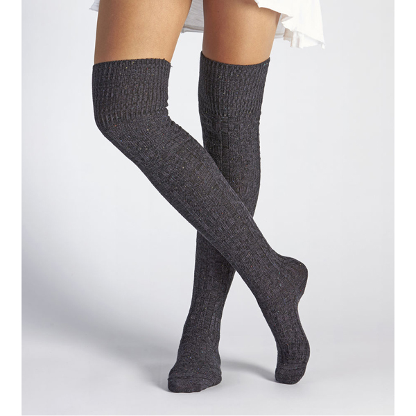 CHEAP UGG WOMEN'S SLOUCHY SPECKLE THIGH HIGH SOCK BLACK BEAR ONLINE