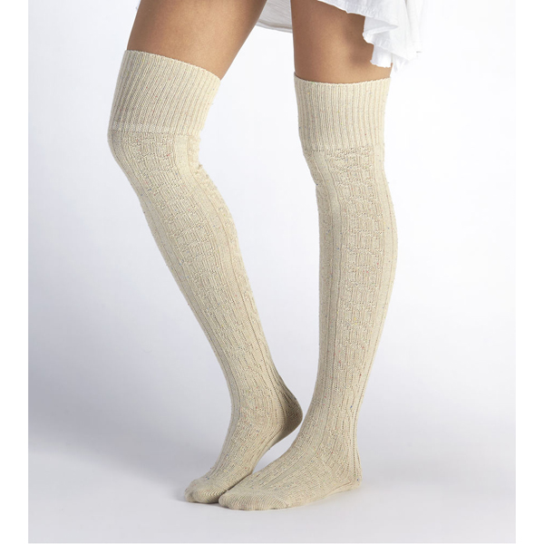 CHEAP UGG WOMEN\'S SLOUCHY SPECKLE THIGH HIGH SOCK CREAM ONLINE