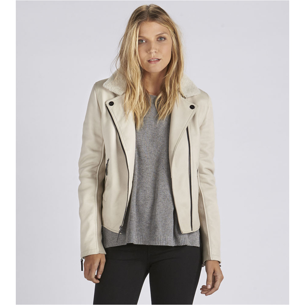 CHEAP UGG WOMEN'S LEATHER CYCLE JACKET STONE ONLINE