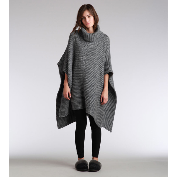 CHEAP UGG WOMEN'S ROBBYN PONCHO GRANITE HEATHER ONLINE