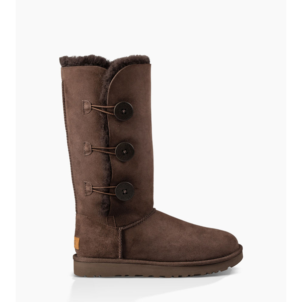 CHEAP UGG WOMEN'S BAILEY BUTTON TRIPLET II CHOCOLATE ONLINE