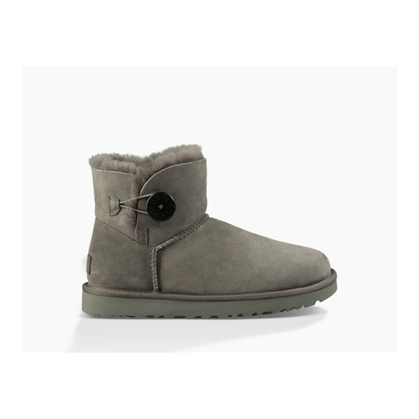 CHEAP UGG WOMEN'S MINI BAILEY BUTTON II GREY ONLINE