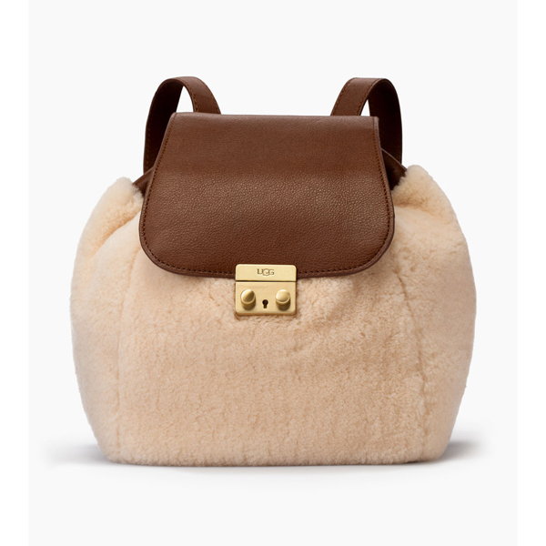 CHEAP UGG WOMEN'S VIVIENNE SHEEPSKIN BACKPACK CHESTNUT / NATURAL ONLINE