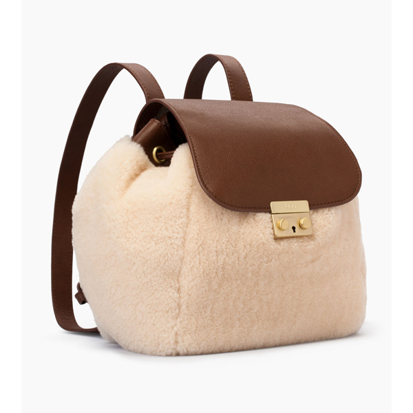 CHEAP UGG WOMEN\'S VIVIENNE SHEEPSKIN BACKPACK CHESTNUT / NATURAL ONLINE