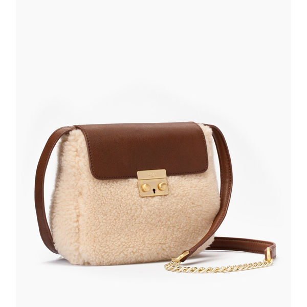 CHEAP UGG WOMEN\'S VIVIENNE SHEEPSKIN CROSSBODY CHESTNUT / NATURAL ONLINE