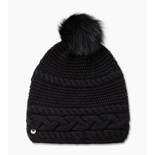 CHEAP UGG WOMEN\'S CABLE OVERSIZED BEANIE  BLACK M ONLINE