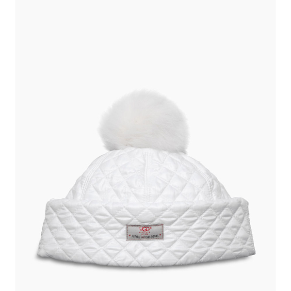 CHEAP UGG WOMEN\'S QUILTED POM HAT WHITE MULTI ONLINE