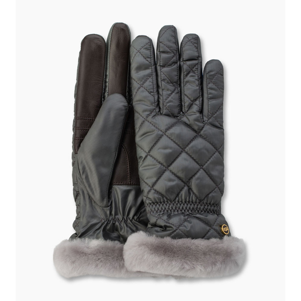 CHEAP UGG WOMEN\'S QUILTED FABRIC SMART GLOVE GREY MULTI ONLINE