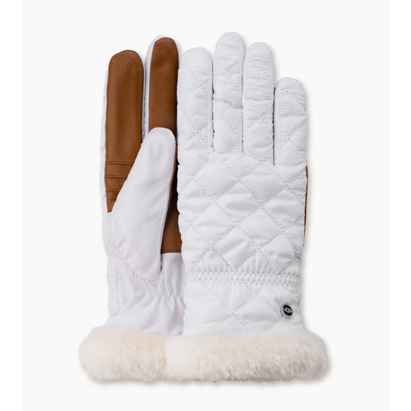 CHEAP UGG WOMEN\'S QUILTED FABRIC SMART GLOVE WHITE MULTI ONLINE