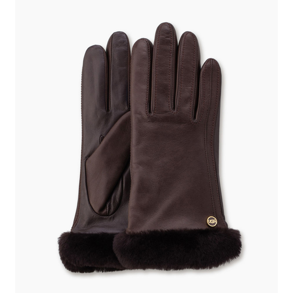 CHEAP UGG WOMEN\'S CLASSIC LEATHER SMART GLOVE BROWN ONLINE