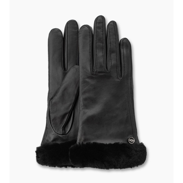 CHEAP UGG WOMEN'S CLASSIC LEATHER SMART GLOVE BLACK ONLINE