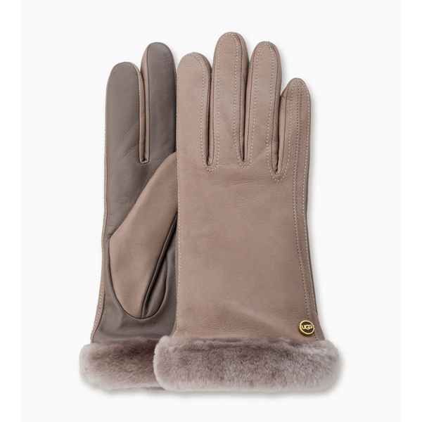 CHEAP UGG WOMEN'S CLASSIC LEATHER SMART GLOVE  STORMY GREY ONLINE
