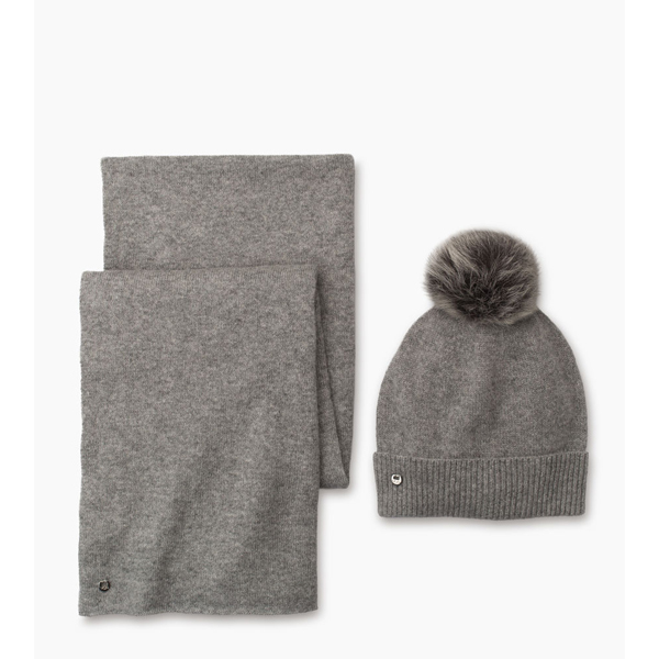 CHEAP UGG WOMEN'S LUXE CASHMERE CUFF HAT WITH SCARF GREY/GREY ONLINE