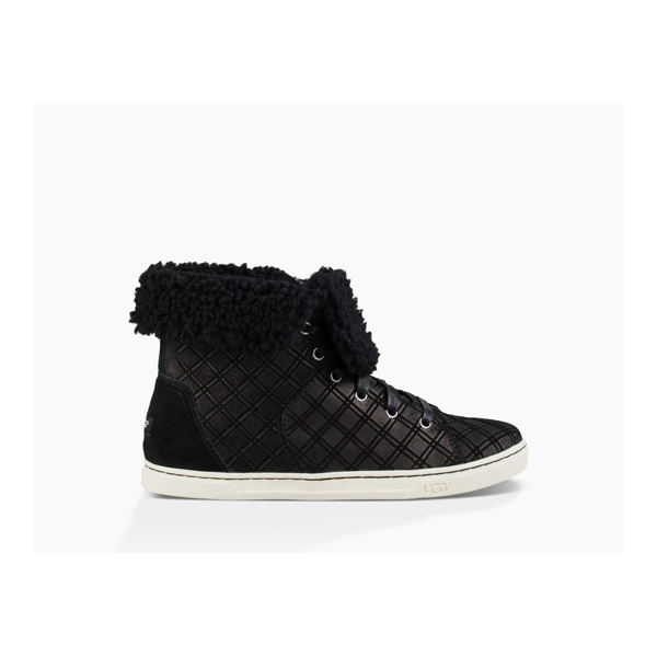 CHEAP UGG WOMEN'S CROFT DOUBLE DIAMOND BLACK ONLINE