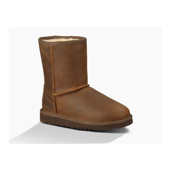 CHEAP UGG KIDS' CLASSIC SHORT LEATHER CHESTNUT ONLINE