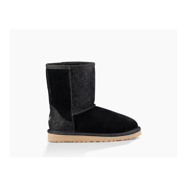 CHEAP UGG YOUTH CLASSIC SHORT SEREIN BLACK ONLINE