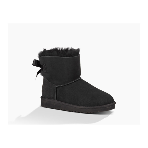 CHEAP UGG YOUTH MINI BAILEY BOW BLACK ONLINE