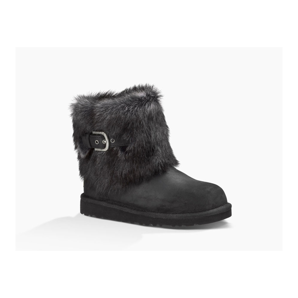 CHEAP UGG KIDS' ELLEE LEATHER BLACK ONLINE