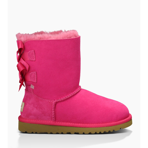 CHEAP UGG YOUTH BAILEY BOW CERISE ONLINE