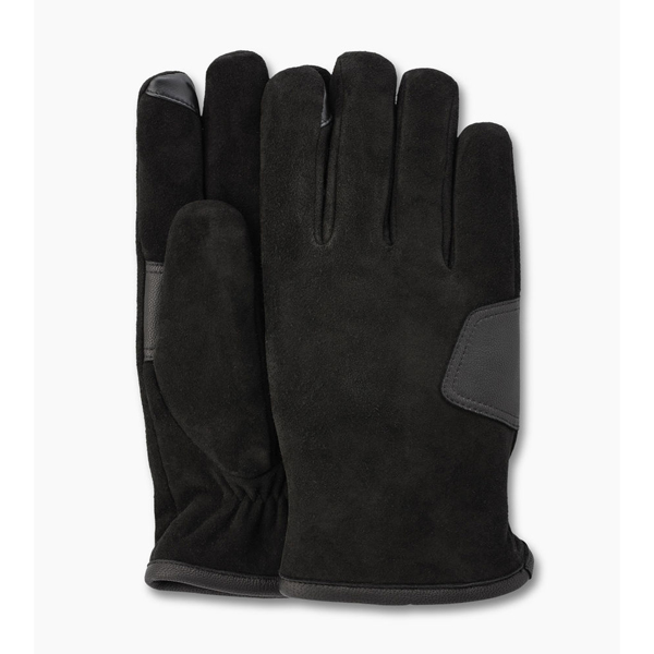 CHEAP UGG MEN'S SUEDE SMART GLOVE BLACK ONLINE