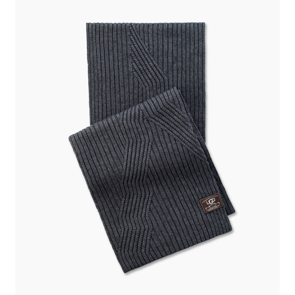 CHEAP UGG MEN'S RIBBED OVERSIZED SCARF CHARCOAL HEATHER ONLINE